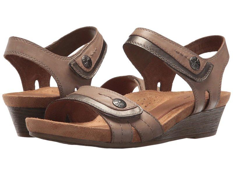 コブ ヒル レディース ヒール シューズ Cobb Hill Hollywood Two-Piece Sandal Khaki Leather