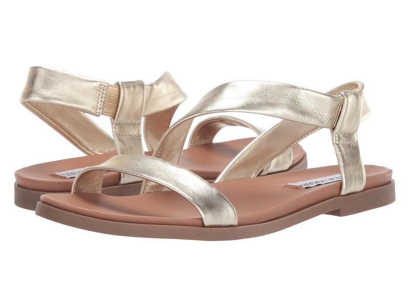 スティーブ マデン レディース サンダル シューズ Dessie Flat Sandals Gold Leather