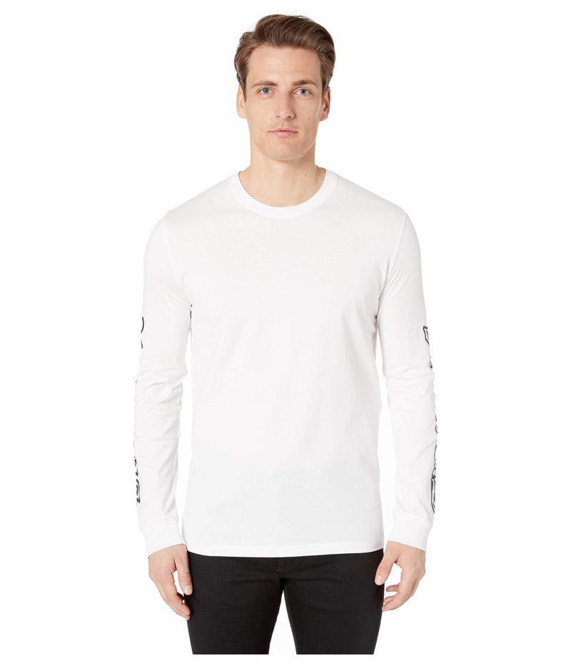 ヴェルサス ヴェルサーチ メンズ シャツ トップス Script Logo Long Sleeve T-Shirt Black