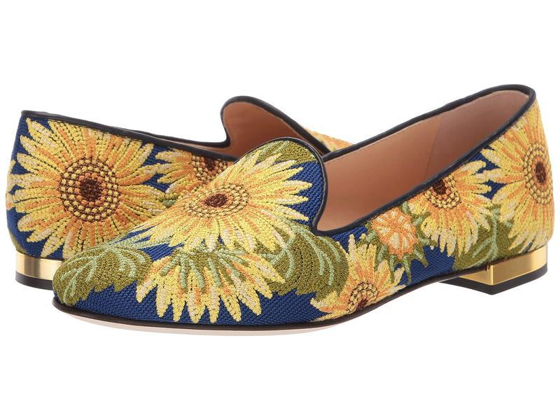 シャーロットオリンピア レディース スリッポン・ローファー シューズ Sunflower Loafer Multi Embroidered Canvas