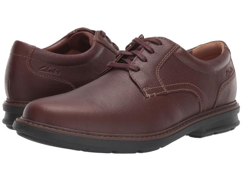クラークス メンズ オックスフォード シューズ Rendell Plain Mahogany Leather