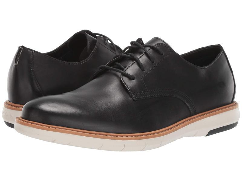 クラークス メンズ オックスフォード シューズ Draper Lace Black Leather