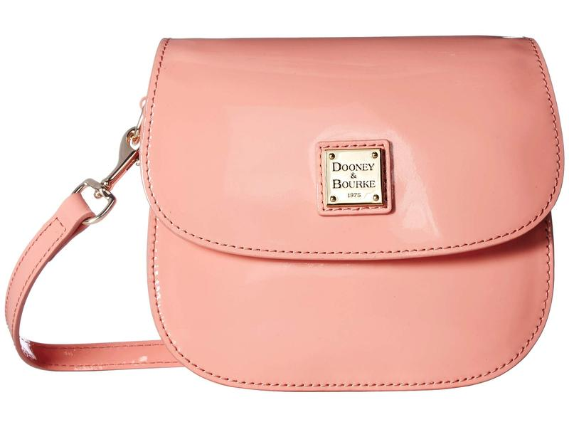 ドーネイアンドバーク レディース ハンドバッグ バッグ Beacon Patent Saddle Crossbody Pale Pink/Pale Pink Trim