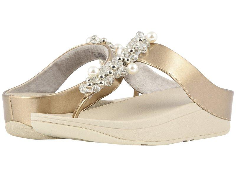 フィットフロップ レディース サンダル シューズ Deco Toe Thong Sandals Silver
