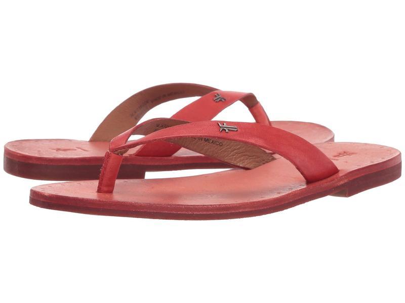 フライ レディース サンダル シューズ Azalea Logo Flip-Flop Coral Antique Veg Tan