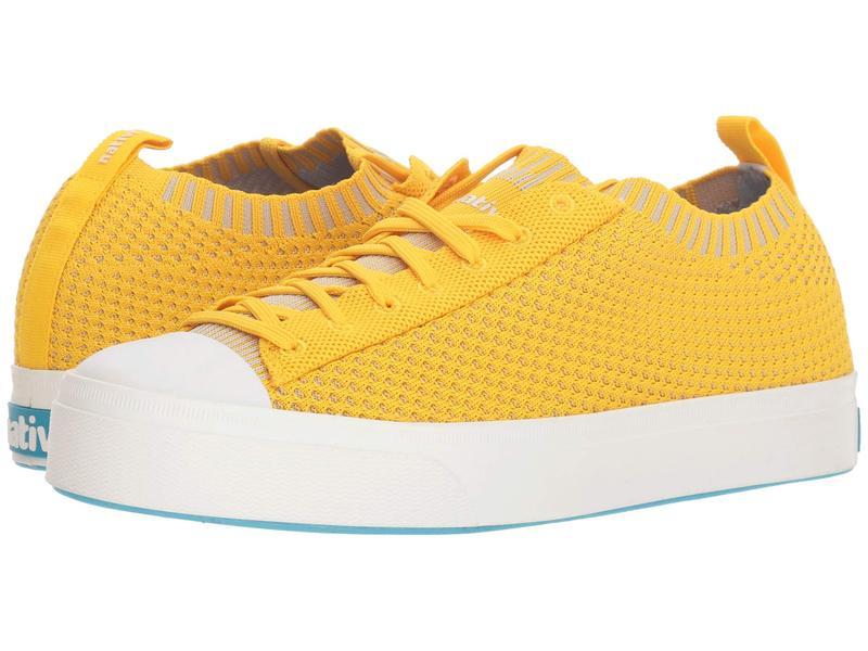 ネイティブ シューズ メンズ スニーカー シューズ Jefferson 2.0 Liteknit Alpine Yellow/Shell White