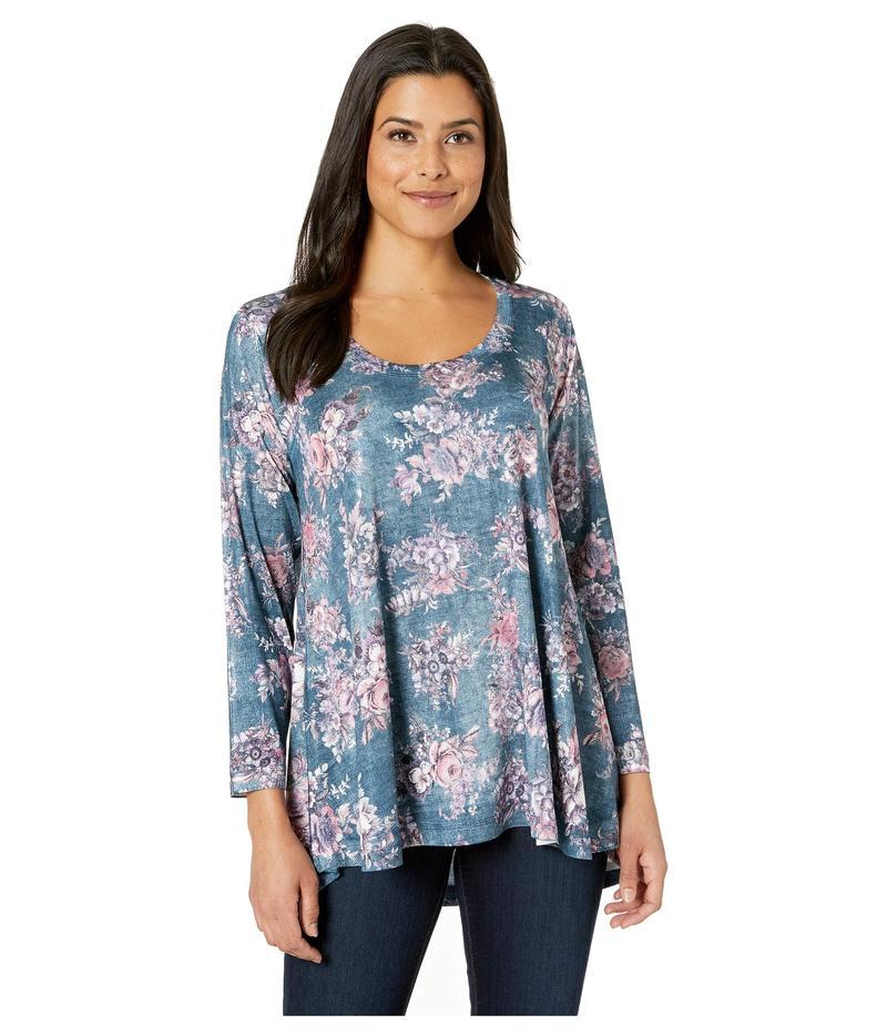 ナリーアンドミリー レディース シャツ トップス Denim Floral Print Tunic Multi