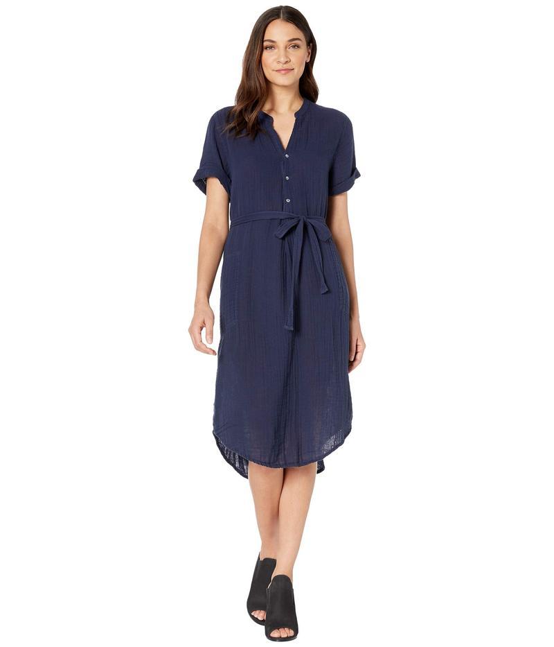 マイケルスターズ レディース ワンピース トップス Dinah Double Gauze Short Sleeve Midi Dress Admiral
