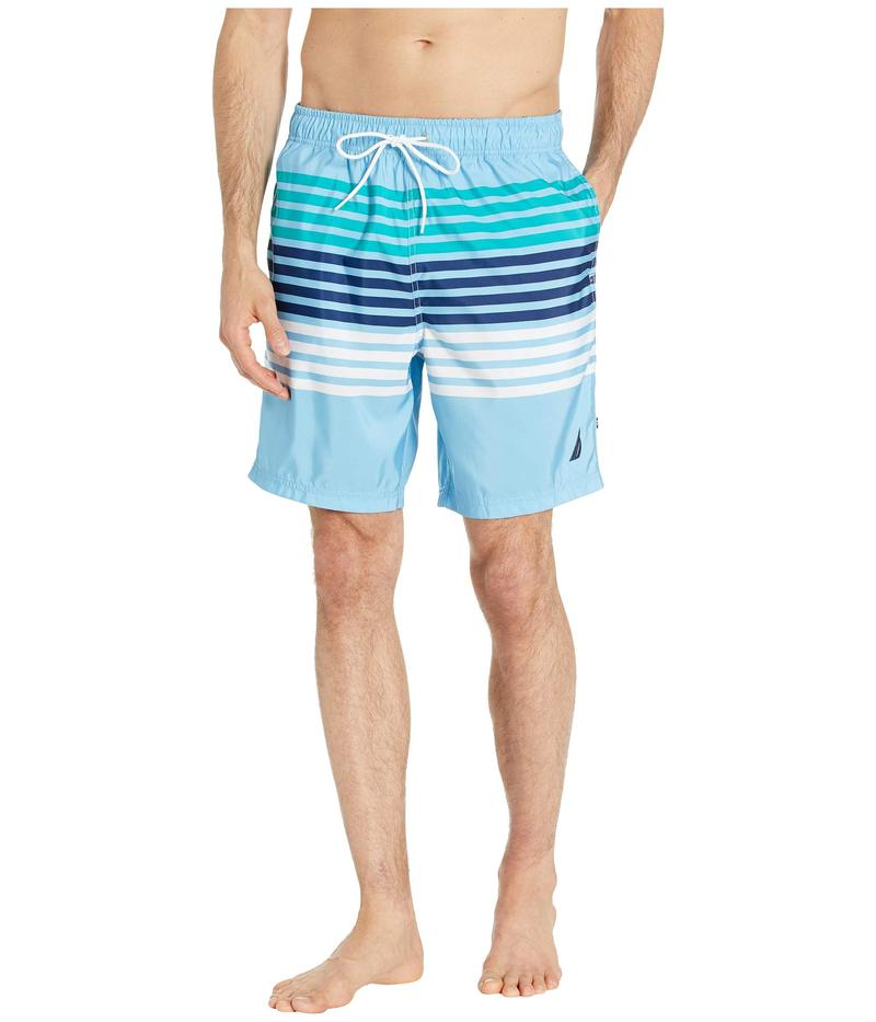 ナウティカ メンズ ハーフパンツ・ショーツ 水着 Stripe Swim Trunk Blue