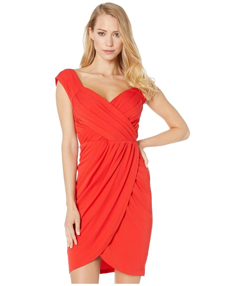 ニコルミラー レディース ワンピース トップス Stella Matte Jersey Sleeve Dress Cherry Red