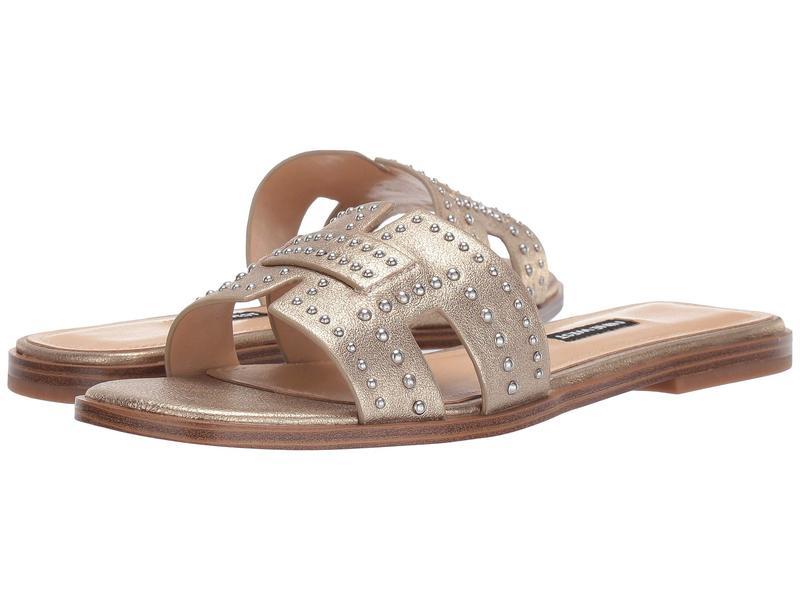 ナインウェスト レディース サンダル シューズ Genesia Studded Slide Sandal Gold