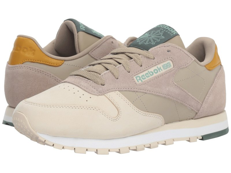 リーボック レディース スニーカー シューズ Classic Leather Super Neutral/Sandtrap/Khaki/White/Chalk Green