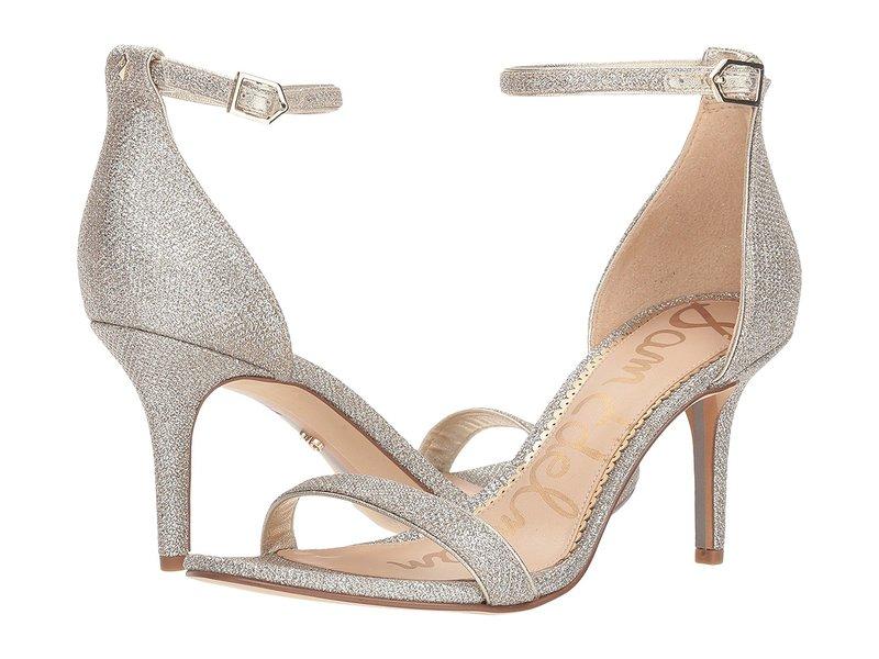 サムエデルマン レディース ヒール シューズ Patti Ankle Strap Heeled Sandal Light Gold Mesh