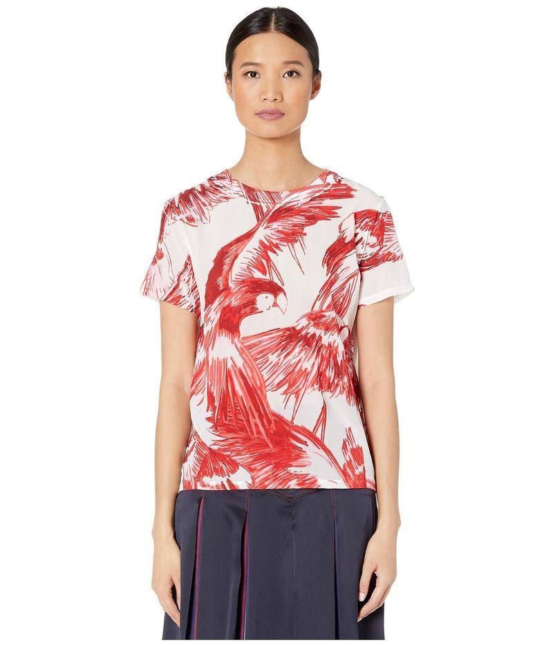 スポーツマックス レディース シャツ トップス Cadine Cotton Printed T-Shirt White
