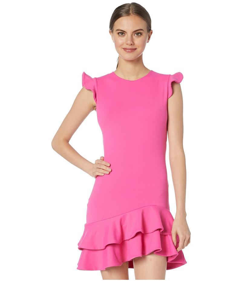 スサナモナコ レディース ワンピース トップス Sleeveless Ruffle Hem Dress Punch Pink