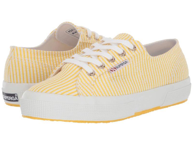 スペルガ レディース スニーカー シューズ 2750 Janw Sneaker Yellow Stripes