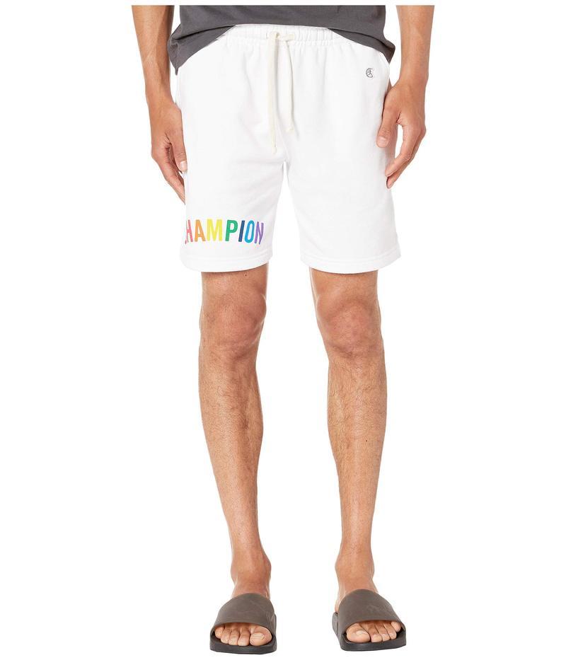 トッドスナイダー メンズ ハーフパンツ・ショーツ ボトムス Todd Snyder + Champion Graphic Warm Up Shorts White