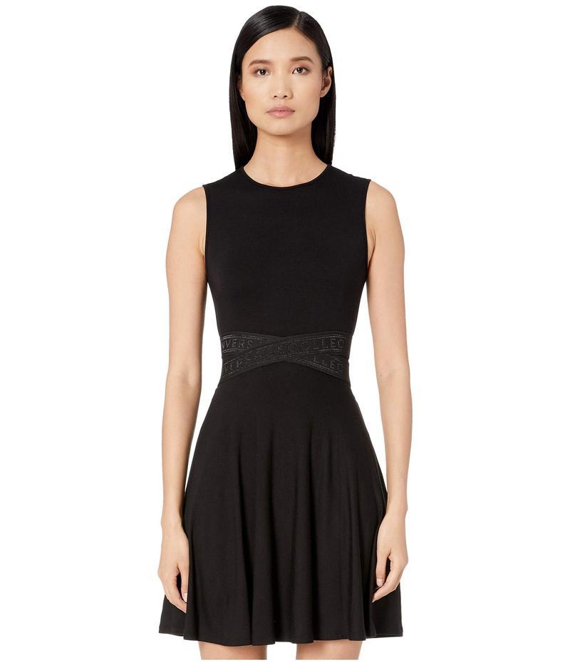 ヴェルサーチ レディース ワンピース トップス Jersey Mini Taping Detail Dress Black
