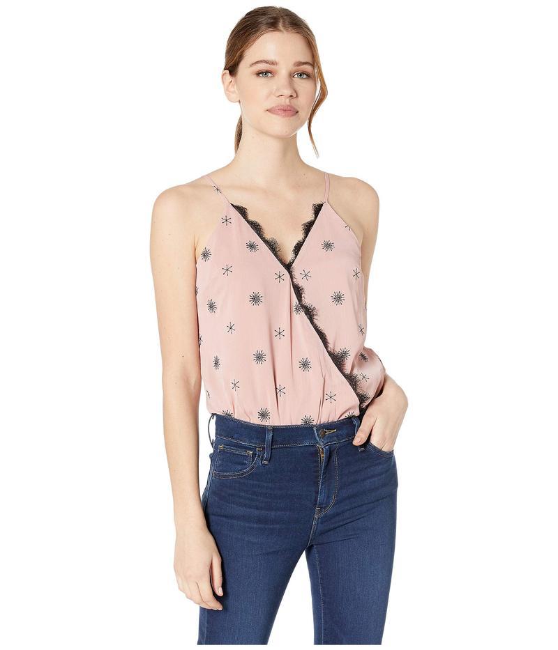 ワイフ レディース シャツ トップス Lizzie Crossover Bodysuit Mauve Embroidery