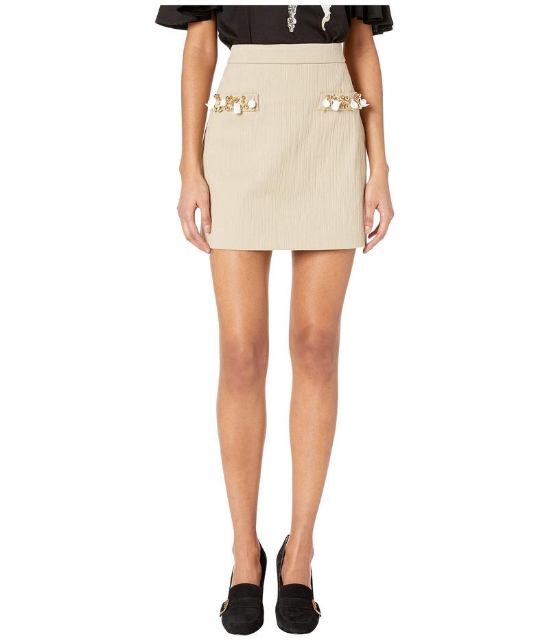 ブティックモスキーノ レディース スカート ボトムス Charm Pocket A-Line Skirt Beige