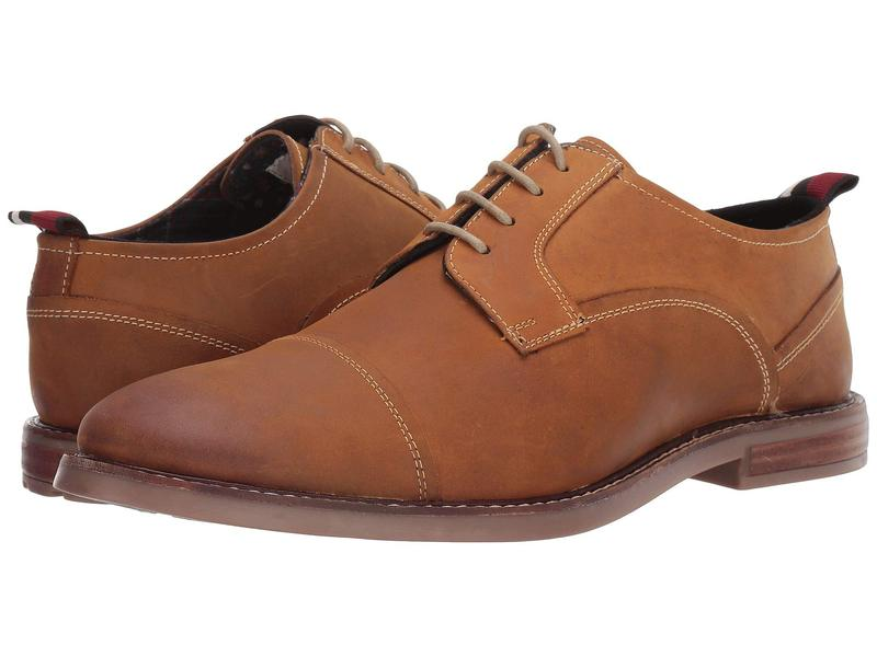 ベンシャーマン メンズ オックスフォード シューズ Brent Cap Toe Tan Leather