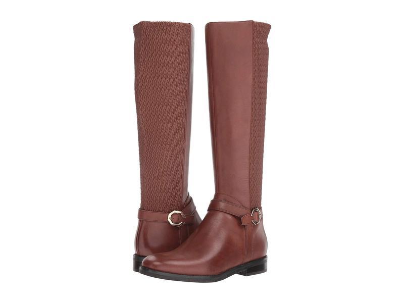 コールハーン レディース ブーツ・レインブーツ シューズ Leela Grand Riding Boot Harvest Brown Leather