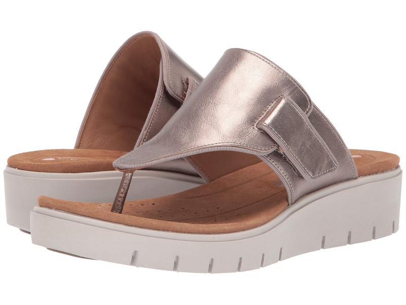 クラークス レディース サンダル シューズ Un Karely Sea Gold Metallic Leather