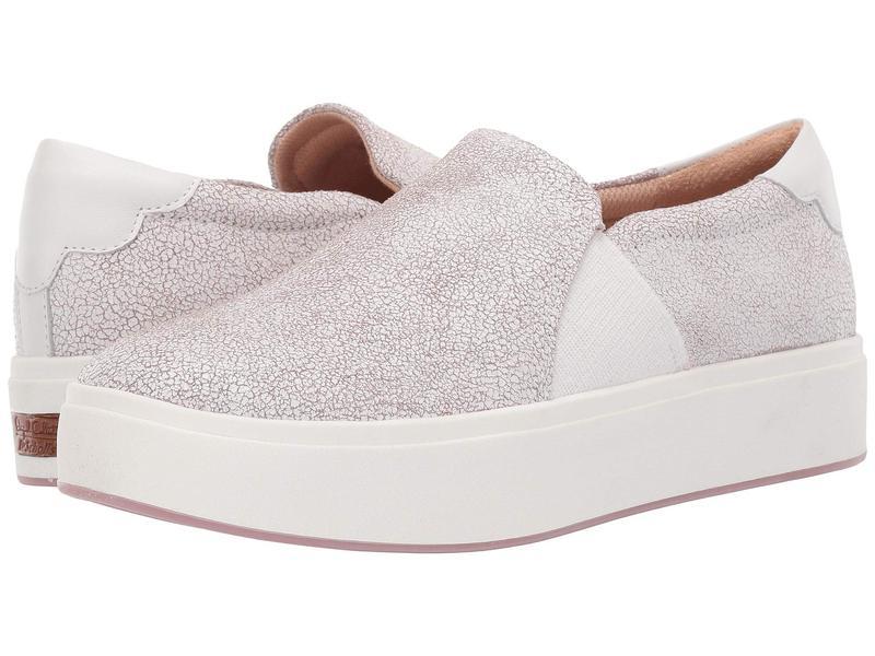 ドクター・ショール レディース スニーカー シューズ Abbot Lux - Original Collection White/Hydrangea Pink Cracked Leather
