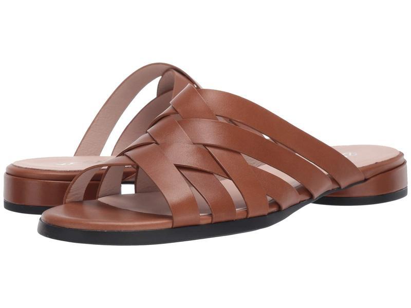 エコー レディース サンダル シューズ Flat Slide Sandal Camel Calf Leather