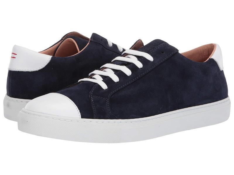 イレブンティ メンズ スニーカー シューズ Suede Lace-Up Sneaker Navy