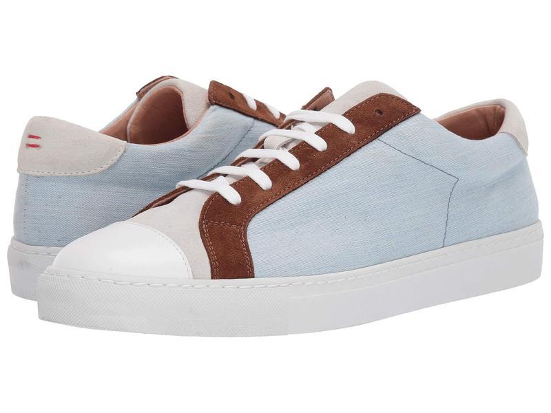 イレブンティ メンズ スニーカー シューズ Leather Tennis Sneaker Denim/Brown