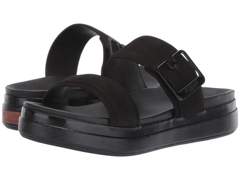ドクター・ショール レディース サンダル シューズ Styles - Original Collection Black Nubuck Leather