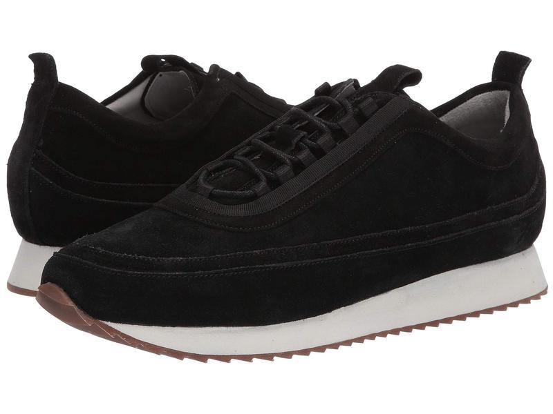 グレンソン メンズ スニーカー シューズ Classic Toe Detail Sneaker Black Suede