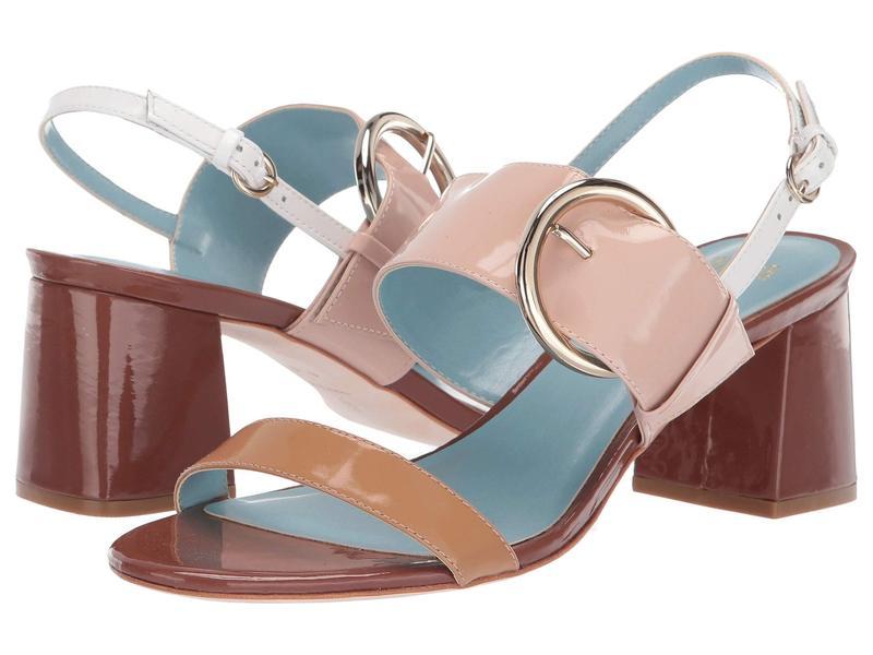 フランセスバレンタイン レディース ヒール シューズ Betty Heeled Sandal Dark Camel/Pink/Light Camel Soft Patent