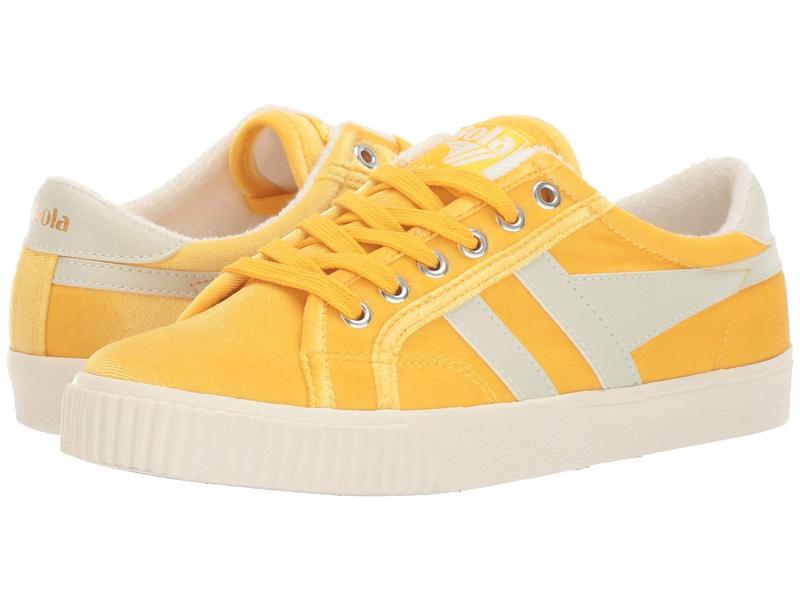ゴラ レディース スニーカー シューズ Tennis Mark Cox Velvet Yellow/Off-White