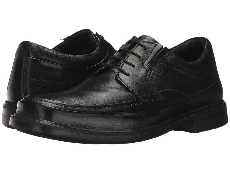 ハッシュパピー メンズ オックスフォード シューズ Prinze Hopper Black Leather