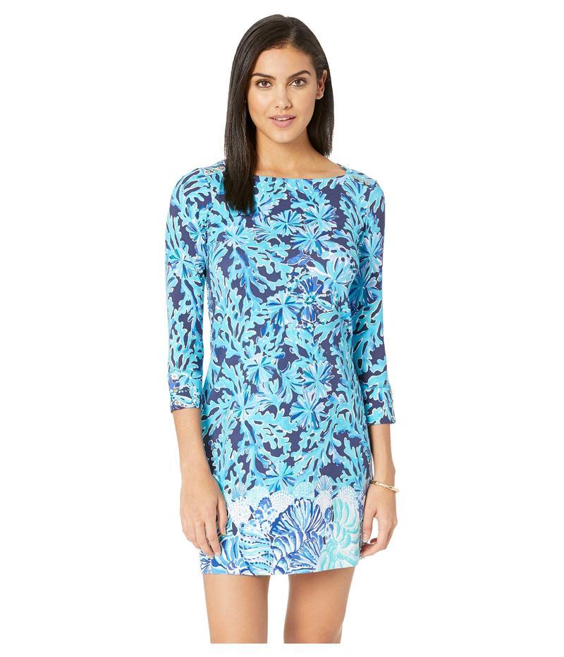 リリーピュリッツァー レディース ワンピース トップス UPF 50+ Sophie Dress Bright Navy in Too Deep Engineered Dress
