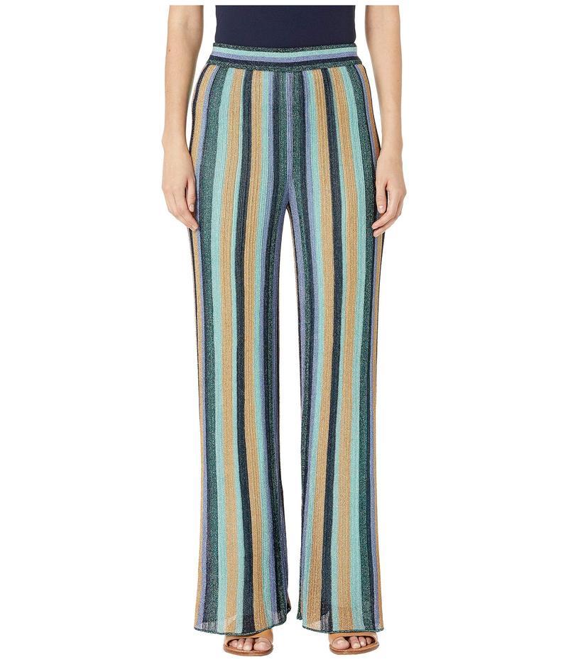エム ミッソーニ レディース カジュアルパンツ ボトムス Long Pants in Lurex Stripe Navy Multi
