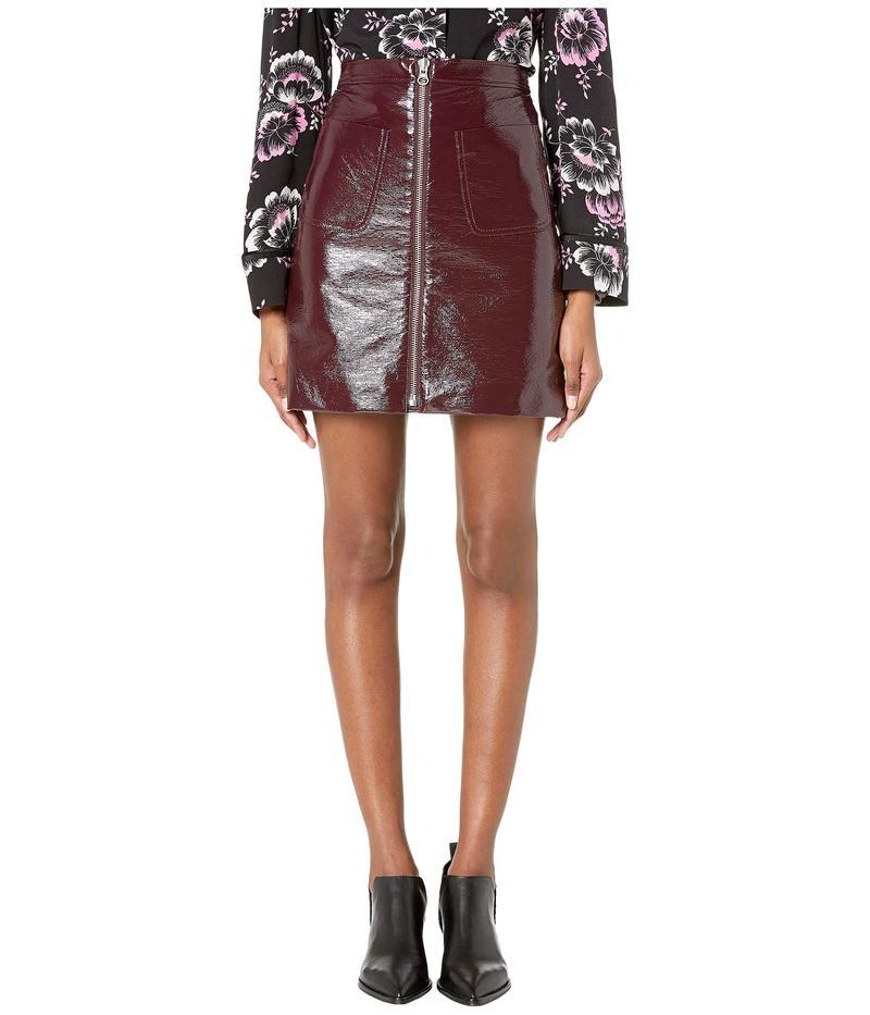 アレキサンダー・マックイーン レディース スカート ボトムス Front Zip Mini Skirt Bordeaux