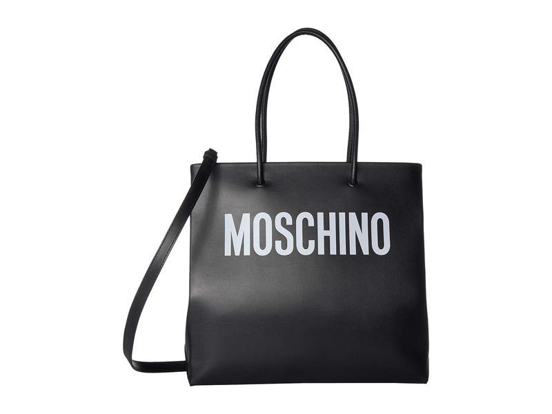 モスキーノ レディース ハンドバッグ バッグ Large Logo Tote Print Black