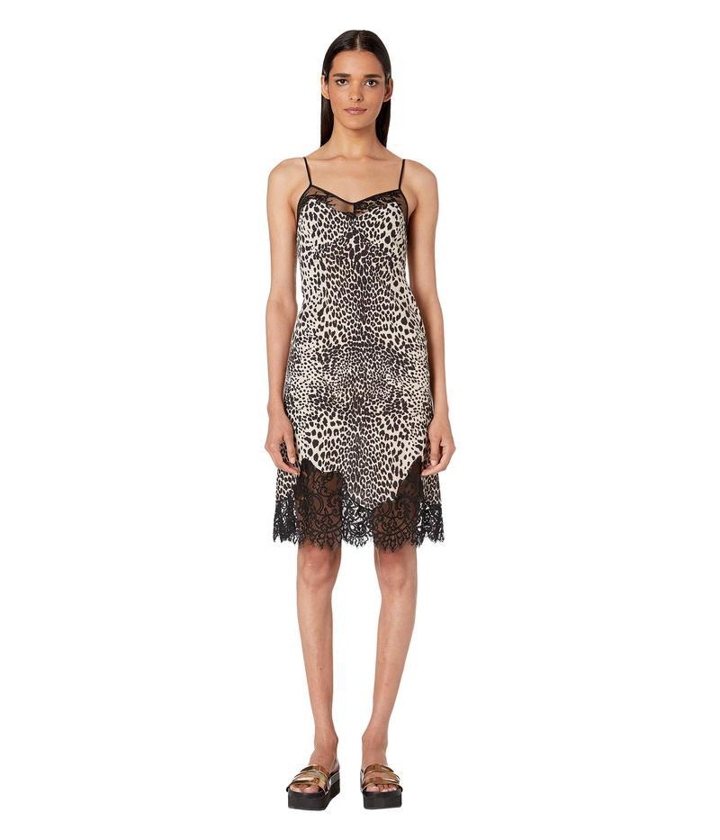 アレキサンダー・マックイーン レディース ワンピース トップス Lace Panel Slip Dress Black/White