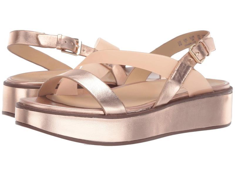 ナチュライザー レディース サンダル シューズ Charlize Rose Gold Metallic Leather/Clear