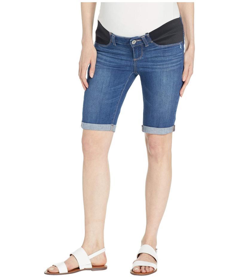 ペイジ レディース ハーフパンツ・ショーツ ボトムス Maternity Jax Knee Shorts w/ Elastic Insets in Delmont Delmont