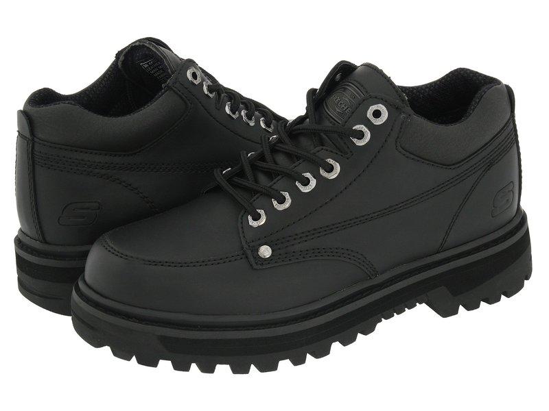 スケッチャーズ メンズ ブーツ・レインブーツ シューズ Mariner Black Oily Leather
