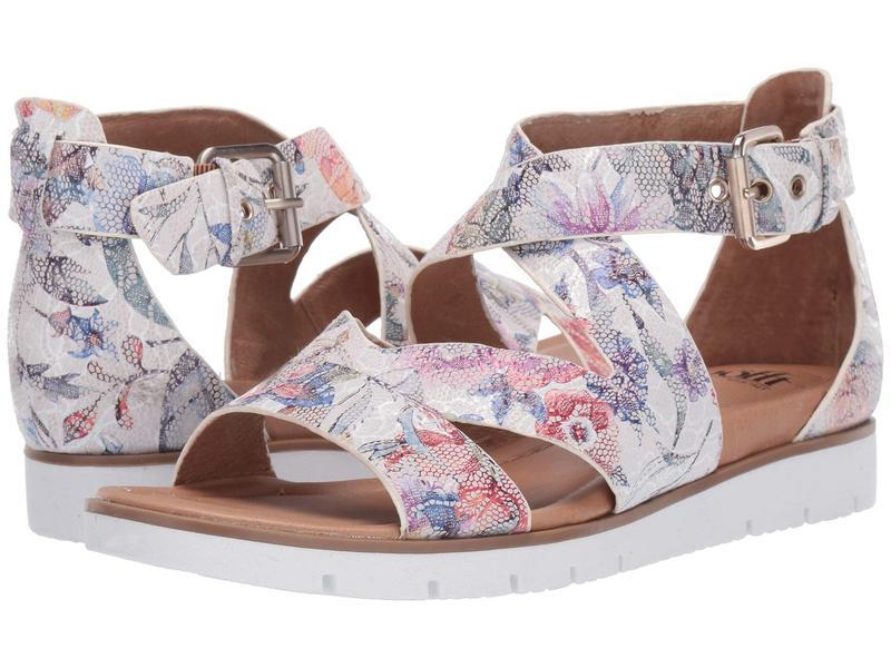 ソフト レディース サンダル シューズ Mirabelle White Multi Floral Lace Print