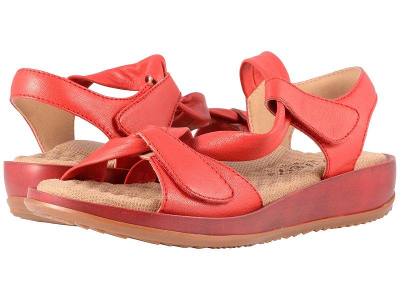 ソフトウォーク レディース サンダル シューズ Del Rey Red Really Soft Leather