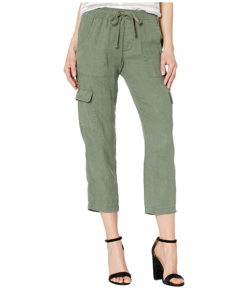 サンクチュアリー レディース カジュアルパンツ ボトムス Discover Pull-On Linen Cargo Pants Peace Green
