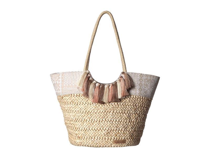 サックルーツ レディース ハンドバッグ バッグ Artist Circle Lola Beach Bag White Tribal Beauti