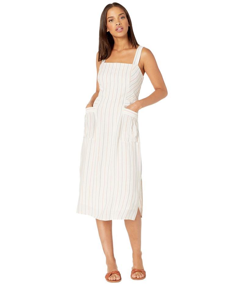 スプレンディット レディース ワンピース トップス Striped Pocket Midi Dress Natural/Pink Beige