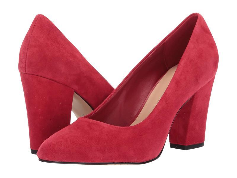 ベラビタ レディース ヒール シューズ Gigi Red Suede Leather